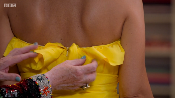 back of leah's gown