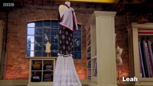 leah net curtain dress