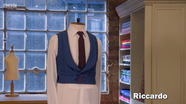 riccardo blue waistcoat