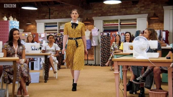 matt mustard dress