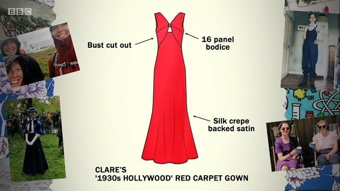 clare gown sketch