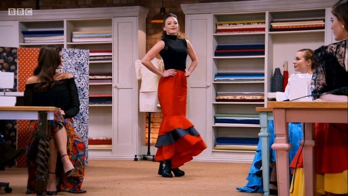 liz vampire flamenco skirt