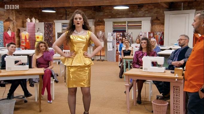 matt gold lame dress