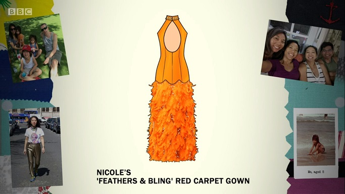 nicole gown sketch
